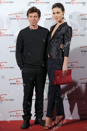 Italian Actors Claudio Gioe and Gabriella Pession (r) Arrive on the Red Carpet For the Television Series 'Il Sistema' at the Roma Fiction Fest in Rome Italy 13 November 2015 the Festival Runs From 11 to 15 November Italy Rome