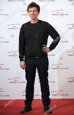 Stock Photo of Italian Actor/cast Member Claudio Gioe Arrives on the Red Carpet For the Television Series 'Il Sistema' at the Roma Fiction Fest in Rome Italy 13 November 2015 the Festival Runs From 11 to 15 November Italy Rome