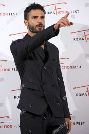Stock Photo of Italian Actor Marco Bocci Poses During a Photocall For the 'Telegatto Speciale 2015' Award at the Roma Fiction Fest in Rome Italy 12 November 2015 the Festival Runs From 11 to 15 November Italy Rome