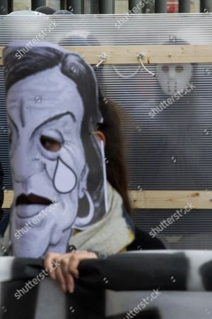 A Protester Wears a Mask Depicting the Face of Italian Labor Minister Elsa Fornero During a Protest Against Unemployment in Naples Italy 12 November 2012 Official Figures Released on 31 October 2012 by the National Statistics Office Istat Showed That the Jobless Rate in Italy Among Those Under the Age of 25 Jumped to a 24-year High at 35 1 Per Cent Surpassing the 34 5-per-cent Figure Registered in 1988 Italy Naples