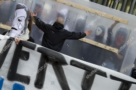 Editorial image of Italy Unemployment Clashes - Nov 2012