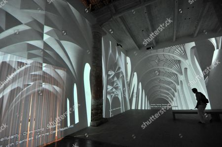 A View of a Video Installation by Iranian-born Architect Farshid Moussavi at the Arsenale Corderie For the Upcoming Architecture Biennale in Venice Italy 26 August 2012 the 13th International Architecture Exhibition Will Take Place From 29 August to 25 November Italy Venice