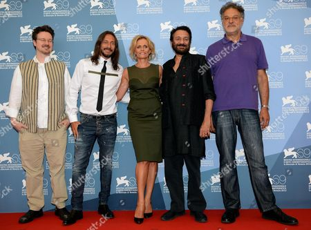 The 'Opera Prima' Jury (l-r): Matt Reeves French Dj Bob Sinclar Italian Actress Director Isabella Ferrari Shekhar Kapur and Michel Demopoulos Pose at the 69th Venice International Film Festival in Venice Italy 29 August 2012 the Festival Runs From 29 August to 08 September Italy Venice