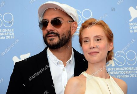 Russian Director Kirill Serebrennikov (l) and German Actress Franziska Petri (r) Pose at a Photocall For the Movie 'Izmena' (betrayal) During the 69th Venice International Film Festival in Venice Italy Italy 30 August 2012 the Movie is Presented in the Official Competition 'Venezia 69' at the Festival Which Runs From 29 August to 08 September Italy Venice