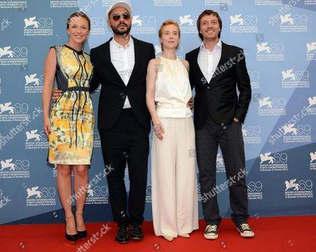(l-r) Russian Actress Albina Dzhanabaeva Russian Director Kirill Serebrennikov German Actress Franziska Petri and Macedonian Actor Dejan Lilic Pose at a Photocall For the Movie 'Izmena' (betrayal) During the 69th Venice International Film Festival in Venice Italy 30 August 2012 the Movie is Presented in the Official Competition 'Venezia 69' at the Festival Which Runs From 29 August to 08 September Italy Venice