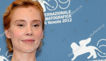 German Actress Franziska Petri Poses at a Photocall For the Movie 'Izmena' (betrayal) During the 69th Venice International Film Festival in Venice Italy 30 August 2012 the Movie is Presented in the Official Competition 'Venezia 69' at the Festival Which Runs From 29 August to 08 September Italy Venice