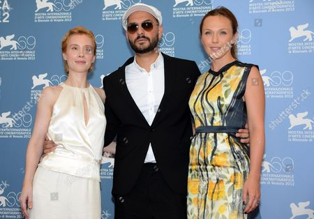(l-r) Russian Actress Albina Dzhanabaeva Russian Director Kirill Serebrennikov and German Actress Franziska Petri Pose at a Photocall For the Movie 'Izmena' (betrayal) During the 69th Venice International Film Festival in Venice Italy 30 August 2012 the Movie is Presented in the Official Competition 'Venezia 69' at the Festival Which Runs From 29 August to 08 September Italy Venice
