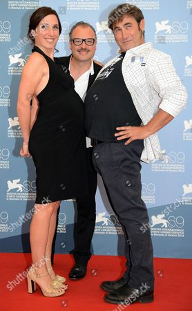 (l-r) Actress Anne Paulicevich Belgian Director Frederic Fonteyne and Spanish Actor Sergi Lopez Pose at a Photocall For the Movie 'Tango Libre' During the 69th Venice International Film Festival in Venice Italy 30 August 2012 the Movie is Presented in the Orizzonti Competition at the Festival Which Runs From 29 August to 08 September Italy Venice