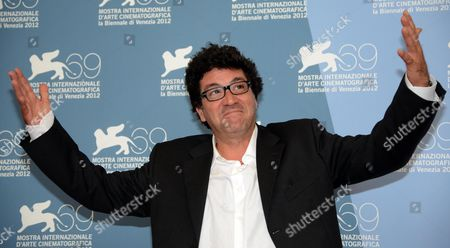 Italian Director Daniele Cipri Poses During a Photocall For the Film 'E Stato Il Figlio' (it was the Son) During the 69th Venice International Film Festival in Venice Italy 01 September 2012 the Movie is Presented in the Official Competition 'Venezia 69' of the Festival Which Runs From 29 August to 08 September Italy Venice