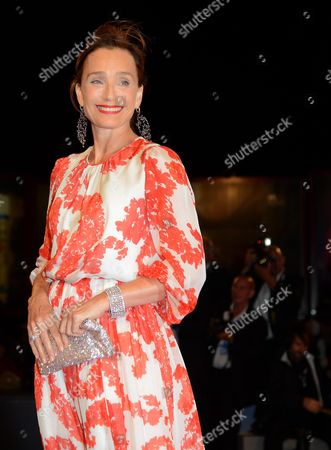 British Actress Kristin Scott Thomas Arrives at the Premiere For the Film 'Cherchez Hortense' by French Director Pascal Bonitzer During the 69th Venice Film Festival in Venice at the Lido in Venice Italy 01 September 2012 the Movie is Presented out of Competition at the Festival Which Runs From 29 August to 08 September Italy Venice