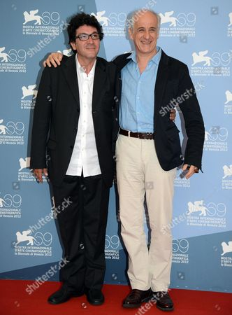 Italian Director Daniele Cipri (l) and Italian Actor Tony Servillo Pose During a Photocall For the Film 'E Stato Il Figlio' (it was the Son) During the 69th Venice International Film Festival in Venice Italy 01 September 2012 the Movie is Presented in the Official Competition 'Venezia 69' of the Festival Which Runs From 29 August to 08 September Italy Venice