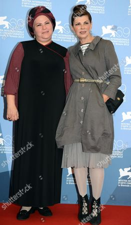 Israeli Director Rama Burshtein (l) and Israeli Actress Irit Sheleg Pose During a Photocall For the Movie 'Fill the Void (lemale Et Ha' Chalal)' During the 69th Venice International Film Festival in Venice Italy 02 September 2012 the Movie is Presented in Competition at the Festival Which Runs From 29 August to 08 September Italy Venice