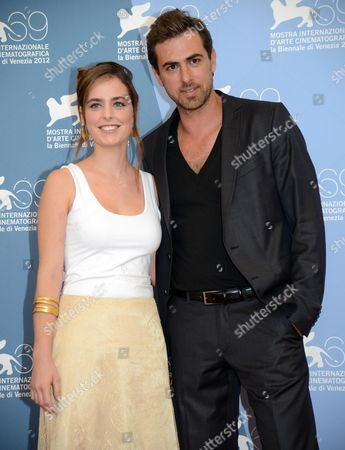 Stock Image of Israeli Actors Hadas Yaron (l) and Yiftach Klein Pose During a Photocall For the Movie 'Fill the Void (lemale Et Ha' Chalal)' During the 69th Venice International Film Festival in Venice Italy 02 September 2012 the Movie is Presented in Competition at the Festival Which Runs From 29 August to 08 September Italy Venice