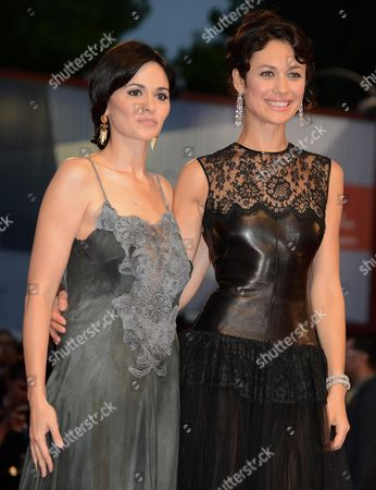 Italian Actress Romina Mondello (l) and French Actress and Model Olga Kurylenko Arrive at the Premiere For the Movie 'To the Wonder' by Us Director Terrence Malick During the 69th Venice Film Festival in Venice at the Lido in Venice Italy 02 September 2012 the Movie is Presented in Official Competition at the Festival Which Runs From 29 August to 08 September Italy Venice