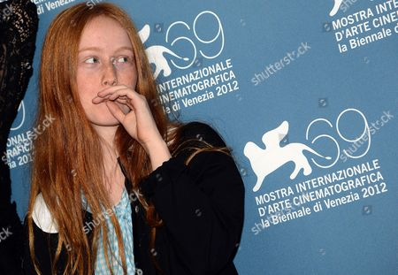French Actress India Salvor Menuez Poses at a Photocall For 'Apres Mai (something in the Air)' During the 69th Venice International Film Festival in Venice Italy 03 September 2012 the Movie is Presented in the Official Competition of the Festival Which Runs From 29 August to 08 September Italy Venice