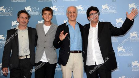 (l-r) Actors Alfredo Castro Fabrizio Falco Tony Servillo and Italian Director Daniele Cipri Pose During a Photocall For the Film 'E Stato Il Figlio' (it was the Son) During the 69th Venice International Film Festival in Venice Italy 01 September 2012 the Movie is Presented in the Official Competition 'Venezia 69' of the Festival Which Runs From 29 August to 08 September Italy Venice