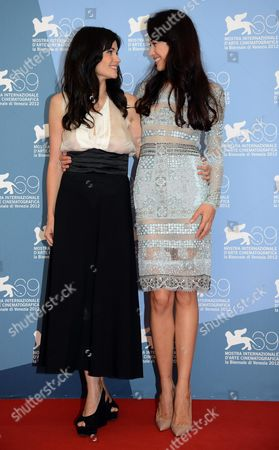 Italian Actress Romina Mondello (l) and French Actress and Model Olga Kurylenko (r) Pose During a Photocall For the Movie 'To the Wonder' During the 69th Venice International Film Festival in Venice Italy 02 September 2012 the Movie is Presented in Competition at the Festival Which Runs From 29 August to 08 September Italy Venice