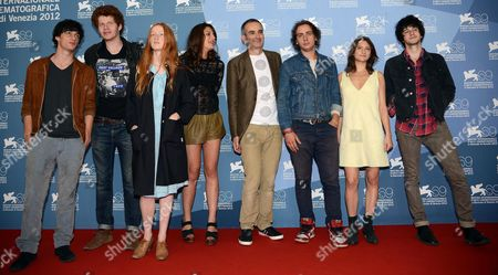 (l-r) French Actors Mathias Renou Hugo Conzelmann India Salvor Menuez and Carole Combes French Director Olivier Assays and French Actors Felix Armand Lola Creton and Clement Metayer Pose at a Photocall For 'Apres Mai (something in the Air)' During the 69th Venice International Film Festival in Venice Italy 03 September 2012 the Movie is Presented in the Official Competition of the Festival Which Runs From 29 August to 08 September Epa/claudio Onorati Italy Venice