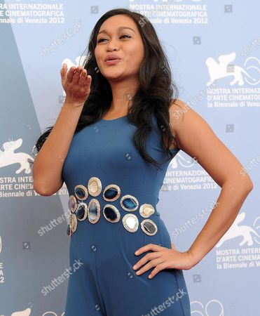 Stock Picture of Actress Mercedes Cabral Poses at the Photocall For 'Sinapupunan' (thy Womb) During the 69th Venice Film Festival in Venice Italy 06 September 2012 the Movie is Presented in Official Competition at the Festival Which Runs From 29 August to 08 September Italy Venice