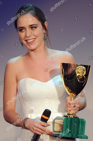 Israeli Actress Hadas Yaron Receives the Coppa Volpi For Best Actress During the Closing Award Ceremony of the 69th Venice International Film Festival in Venice Italy 08 September 2012 Italy Venice