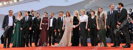 Chilean Director Valeria Sarmiento (4-r) Arrives with Cast Members For the Premiere of Her Movie 'Linhas De Wellington' (lines of Wellington) During the 69th Venice International Film Festival in Venice Italy 04 September 2012 the Movie is Presented in the Official Competition of the Festival Which Runs From 29 August to 08 September Italy Venice