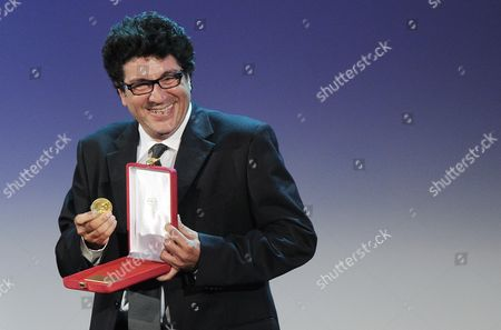 Italian Director and Cinematographer Daniele Cipri Receives a Prize For the Best Techincal Contribution During the Closing Award Ceremony of the 69th Venice International Film Festival in Venice Italy 08 September 2012 Italy Venice