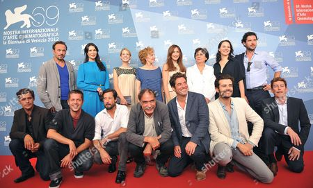 Chilean Director Valeria Sarmiento (back Row 3-r) Poses with Actors at a Photocall For 'Linhas De Wellington' (lines of Wellington) During the 69th Venice International Film Festival in Venice Italy 04 September 2012 the Movie is Presented in the Official Competition of the Festival Which Runs From 29 August to 08 September Italy Venice