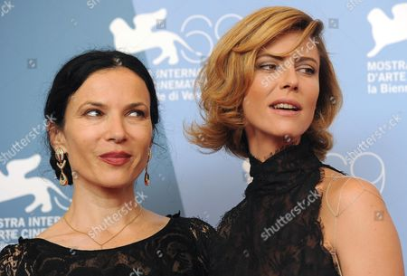 Stock Photo of Us Director Alexandra Cassavetes (l) and Actress Anna Mouglalis Pose at the Photocall For 'Kiss of the Damned' During the 69th Venice International Film Festival in Venice Italy 07 September 2012 the Movie is Presented out of Competition at the Festival Which Runs From 29 August to 08 September 2012 Italy Venice