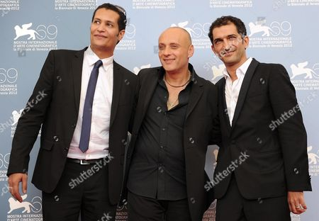 Egyptian Film Director Ibrahim El Batout (c) and Producer Salah Al Hanafy (l) and Actor Amr Waked (r) Pose During a Photocall For 'El Sheita Elli Fat' (winter of Discontent) During the 69th Venice International Film Festival in Venice Italy 01 September 2012 the Movie is Presented out of Competition at the Festival Which Runs From 29 August to 08 September Italy Venice