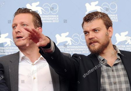 Danish Director Tobias Lindholm (l) and Danish Actor Polou Asbaek (r) Pose at a Photocall For 'Kapringen (a Hijacking)' During the 69th Venice International Film Festival in Venice Italy 03 September 2012 the Movie is Presented in the Orizzonti Section of the Festival Which Runs From 29 August to 08 September Italy Venice