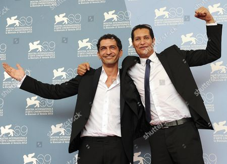 Producer Salah Al Hanafy (r) and Actor Amr Waked (l) Pose Pose During a Photocall For 'El Sheita Elli Fat' (winter of Discontent) During the 69th Venice International Film Festival in Venice Italy 01 September 2012 the Movie is Presented out of Competition at the Festival Which Runs From 29 August to 08 September Italy Venice
