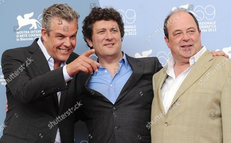 (l-r) Actor Danny Huston Film Director Bernard Rose and Actor Matthew Jacobs Pose During the Photocall For 'Boxing Day' During the 69th Venice International Film Festival in Venice Italy 02 September 2012 the Movie is Presented out of Competition During the Festival Which Runs From 29 August to 08 September Italy Venice