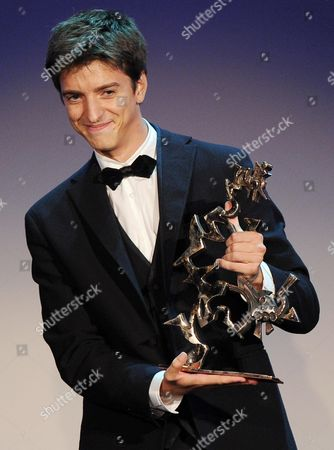 Italian Actor Fabrizio Falco Receives the Mastroianni Prize For Best Young Actor During the Closing Award Ceremony of the 69th Venice International Film Festival in Venice Italy 08 September 2012 Italy Venice