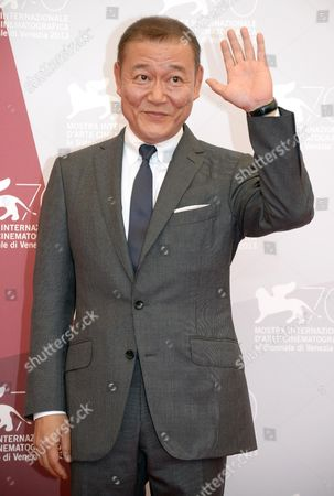 Japanese Actor Jun Kunimura Poses During a Photocall For the Movie 'Jigoku De Naze Warui (why Don't You Play in Hell)' by Japanese Director Sion Sono Presented at the Orizzonti Section at the 70th Annual Venice International Film Festival in Venice Italy 29 August 2013 the Festival Runs From 28 August to 07 September Italy Venice