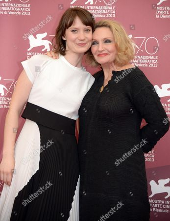 Australian Actress Mia Wasikowska (l) and Australian Writer Robyn Davidson Pose During a Photocall For 'Tracks' at the 70th Annual Venice International Film Festival in Venice Italy 29 August 2013 the Movie is Presented in the Official Competition of the Festival That Runs From 28 August to 07 September Italy Venice