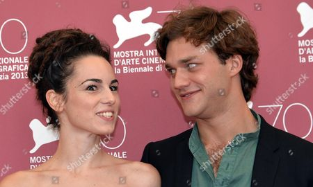 Italian Actors Lorenzo Richelmy (r) and Margherita Laterza (l) Pose at a Photocall For 'Il Terzo Tempo' During the 70th Annual Venice International Film Festival in Venice Italy 31 August 2013 the Movie is Presented in the Orizzonti Section of the Festival That Runs From 28 August to 07 September Italy Venice