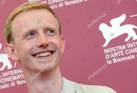 German Actor David Zimmerschied Poses During a Photocall For the Movie 'Die Frau Des Polizisten (the Police Officer's Wife)' by German Director Philip Groning During The70th Annual Venice International Film Festival in Venice Italy 30 August 2013 the Movie is Presented in Official Competition at the Festival That Runs From 28 August to 07 September Italy Venice