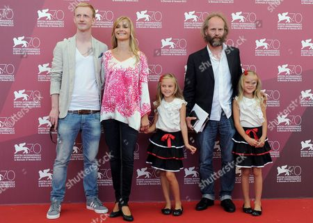 From (l-r) German Actors David Zimmerschied Alexandra Finder Pia Kleeman Film Director Philip Groning and Chiara Kleeman Pose During a Photocall For the Movie 'Die Frau Des Polizisten (the Police Officer's Wife)' During the 70th Annual Venice International Film Festival in Venice Italy 30 August 2013 the Movie is Presented in Official Competition at the Festival That Runs From 28 August to 07 September Italy Venice