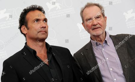 German Director and Writer Edgar Reitz (r) and His Son Producer Christian Reitz (l) Pose During a Photocall For 'Die Andere Heimat - Chronik Einer Sehnsucht' (home From Home - Chronicle of a Vision) at the 70th Annual Venice International Film Festival in Venice Italy 29 August 2013 the Movie is Presented out of Competition at the Festival That Runs From 28 August to 07 September Italy Venice