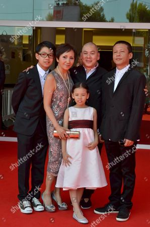 (l-r) Taiwan Actors Lee Yi-cheng Lu Yi-ching Taiwan Director Tsai Ming-liang Taiwan Actors Lee Kang-sheng and Lee Yi-chieh Arrive For the Premiere of 'Jiaoyou' (stray Dogs) at the 70th Annual Venice International Film Festival in Venice Italy 05 September 2013 the Movie is Presented in the Official Competition Venezia 70 of the Festival That Runs From 28 August to 07 September Italy Venice
