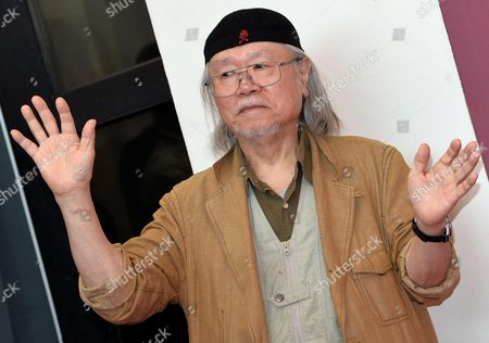 Japanese Cartoonist and Animator Leiji Matsumoto Poses at a Photocall For 'Harlock: Space Pirate' During the 70th Annual Venice International Film Festival in Venice Italy 03 September 2013 the Movie is Presented out of Competition the Festival Runs From 28 August to 07 September Italy Venice