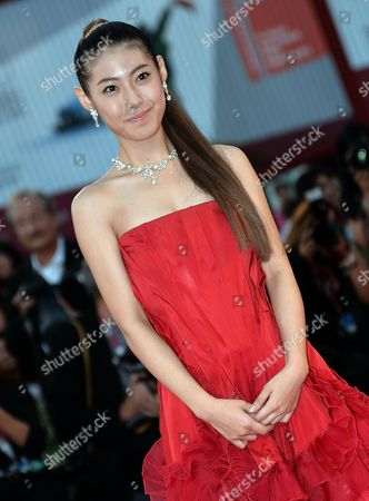 Japanese Actress Miori Takimoto Arrives For the Screening of 'Kaze Tachinu' (the Wind Rises) During the 70th Annual Venice International Film Festival in Venice Italy 01 September 2013 the Movie is Presented in the Official Competition Venezia 70 of the Festival Running From 28 August to 07 September Italy Venice