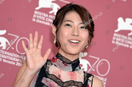 Japanese Actress Miori Takimoto Poses at a Photocall For 'Kaze Tachinu' (the Wind Rises) During the 70th Annual Venice International Film Festival in Venice Italy 01 September 2013 the Movie is Presented in the Official Competition Venezia 70 of the Festival Running From 28 August to 07 September Italy Venice
