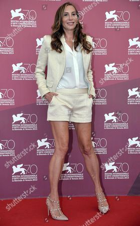 Us Stylist Jacqui Getty Poses at a Photocall For 'Palo Alto' During the 70th Annual Venice International Film Festival in Venice Italy 01 September 2013 the Movie is Presented in the Orizzonti Section of the Festival That Runs From 28 August to 07 September Italy Venice