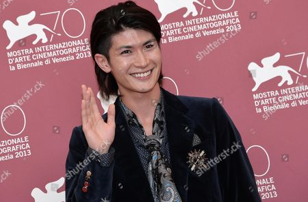 Japanese Actor/cast Member Haruma Miura Poses at a Photocall For 'Harlock: Space Pirate' During the 70th Annual Venice International Film Festival in Venice Italy 03 September 2013 the Movie is Presented out of Competition the Festival Runs From 28 August to 07 September Italy Venice