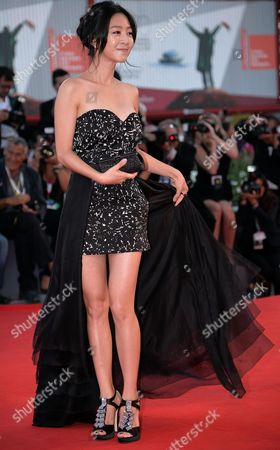 South Korean Actress/cast Member Lee Eun-woo Arrives on the Red Carpet to Promote the Movie 'Moebius' at the 70th Annual Venice International Film Festival in Venice Italy 03 September 2013 the Movie is Presented out of Competition the Festival Runs From 28 August to 07 September Italy Venice
