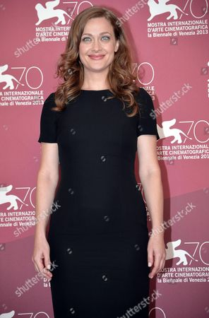 Greek Actress Eleni Roussinou Poses at a Photocall For 'Miss Violence' During the 70th Annual Venice International Film Festival in Venice Italy 01 September 2013 the Movie is Presented in the Official Competition Venezia 70 of the Festival Running From 28 August to 07 September Italy Venice