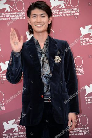 Stock Image of Japanese Actor/cast Member Haruma Miura Poses at a Photocall For 'Harlock: Space Pirate' During the 70th Annual Venice International Film Festival in Venice Italy 03 September 2013 the Movie is Presented out of Competition the Festival Runs From 28 August to 07 September Italy Venice