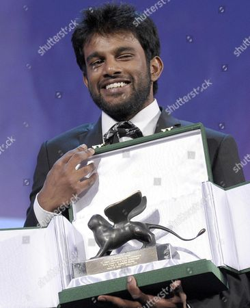 Indian Director Shubhashish Bhutiani Receives the Orizzonti Special Award For Best Short Film For the Movie 'Kush' During the Closing Award Ceremony of the 70th Venice International Film Festival in Venice Italy 07 September 2013 Italy Venice