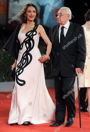 Italian Actress/cast Member Maria Rosaria Omaggio (l) and Polish Director Andrzej Wajda Arrive For the Screening of 'Walesa Czlowiek Z Nadziei' (walesa Man of Hope) at the 70th Annual Venice International Film Festival in Venice Italy 05 September 2013 the Movie is Presented out of Competition the Festival Runs From 28 August to 07 September Italy Venice